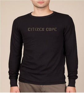 "Image of Men's ""Citizen Cope"" Thermal Stencil L/S"