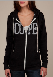Image of COPE - Black Zip Hoodie