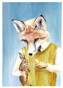 Image of Mr fox 11 x 14 print