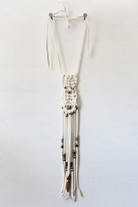 Image of White Frozen River Macrame Necklace