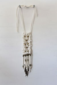Image of White Stardust Macrame Necklace
