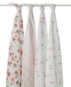 Image of Aden and Anais Swaddle Blanket 4 pack