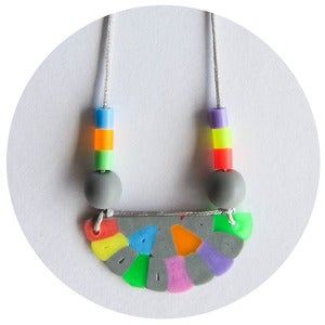 Image of  Grey Colourific Semi-Circle Necklace