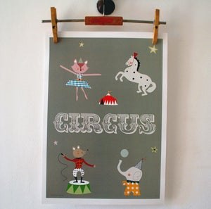 Image of Lmina Circus o El el Elefante print