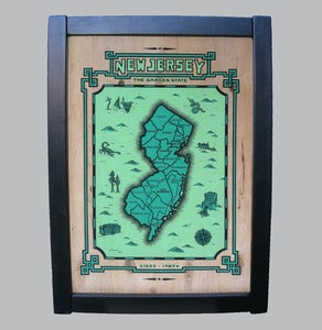 Image of new jersey framed