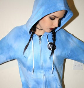 Image of StitchedUp! TieDie Hoody - SKY - S