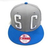 "Image of SO FRESH CLOTHING ""BIG BLOCK 2.0"" NEW ERA SNAPBACK (GRY/OCEAN BLUE)"