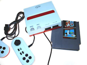 Image of YOBO brand NES 8-bit game cartridge player