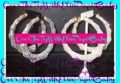 Image of ♥crystallized Both Sided♥ ♥Bamboo Earrings♥