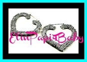 Image of ♥crystallized Both Sided♥ ♥Heart Shape♥ ♥Bamboo Earrings♥