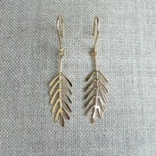 Image of spruce earrings - vermeil