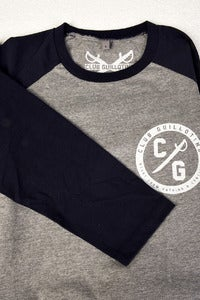 Image of Grey/Dark Navy baseball pocket print