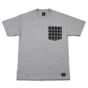 Image of Patterned Pocket T-Shirt in Heather