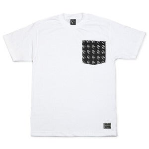 Image of Patterned Pocket T-Shirt in White