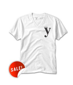 Image of a,e,i,o,u | V-NECK | WHITE
