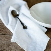 Image of white linen napkin