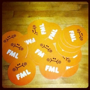 Image of FML 2.0 Stickers by Abe Lincoln Jr.