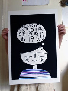 Image of DREAMING NUMBERS PRINT