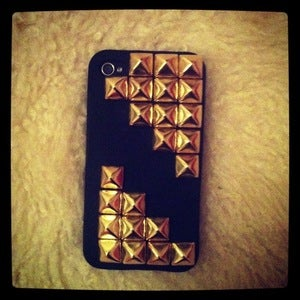 Image of Half Gold Studded iPhone 4/4s/5 Cover