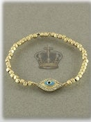 Image of MATTE GOLD EVIL EYE