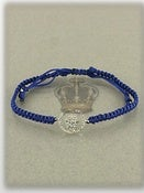 Image of MACRAME HAMSA ROYAL BLUE