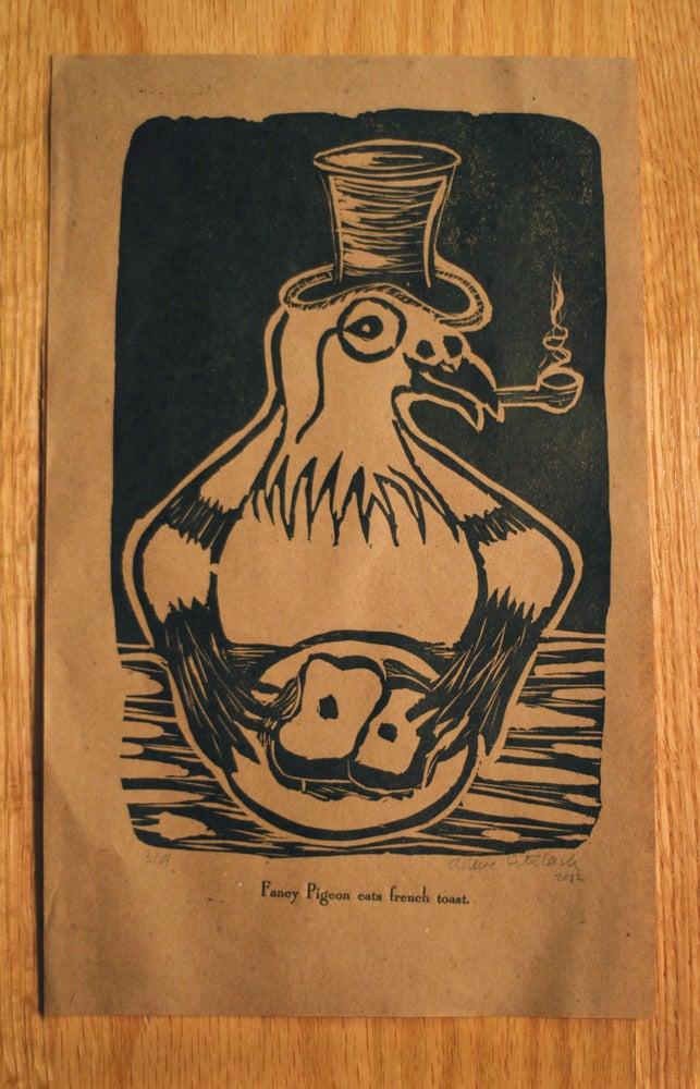 Fancy Pigeon Print :: Newsprint