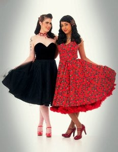 Image of Black Velvet, Satin &amp; Tulle Party Dress