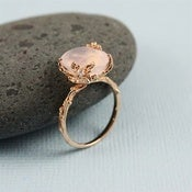 Image of Nature Rose Quartz Ring