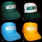 Image of GREEN/SKYBLUE/YELLOW Trucker Hat