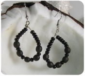 Image of Black Spanish Earrings
