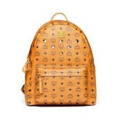 Image of MCM Backpack Visetos Cognac Medium Brand NEW