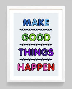 Image of Positive Thinking Giclée print on 310gsm Somerset Velvet Paper