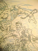 Image of ZOMBIE CAGE FIGHTER: MOVIE POSTER original pencils