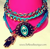 Image of Blue Evil Eye Set