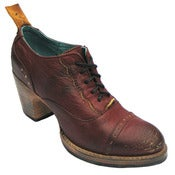 Image of No.0019 CROSSWALK cap toe oxford Red