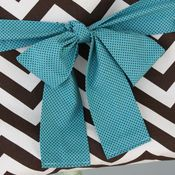 Image of messenger bag sash - teal with brown dots
