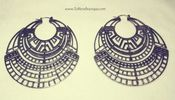 Image of Aztec Silver Earrings