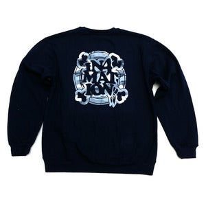 Image of IN4M - FYI CAMO CREW NECK FLEECE (NAVY)