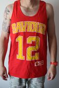 Image of Red Basketball Singlet