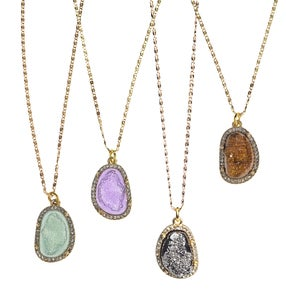 Image of Allayna Druzy Necklace *As seen in InStyle Magazine