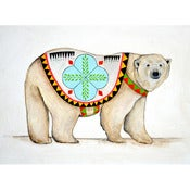 Image of Polar Bear Painting