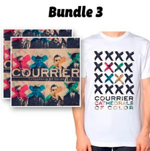 Image of Bundle 3: Cathedrals of Color Physical CD + 2 immediate downloads + Exclusive CofC T-Shirt