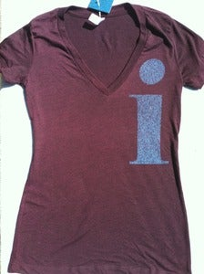Image of i - triblend v-neck - amethyst