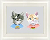 Image of Wonder Kittens print by Ryan Berkley