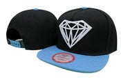 Image of NEW! Diamond Supply Co. Brilliant Snapback Hat Collection (Black/Azure)