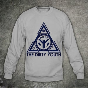 Image of Pyramid Jumper Blue on Grey  **NEW**