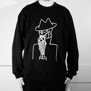 Image of THE LAST SLICE - BLACK CREW NECK SWEATSHIRT