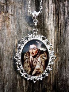 Image of  Large Silver Spanish Renaissance Style PENDANT Necklace - OMARINA Heirloom Collection: El Greco