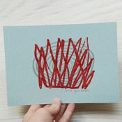Image of Red grass - screenprint