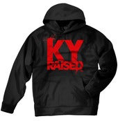 Image of KY Raised Black / Red Hooded Sweatshirt